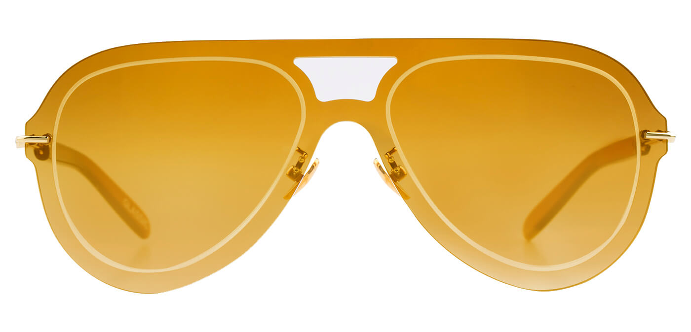 Gold Pilot Sunglasses for Men Andy Front