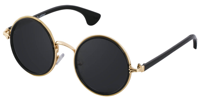 Gold Round Sunglasses for Men Muse Side