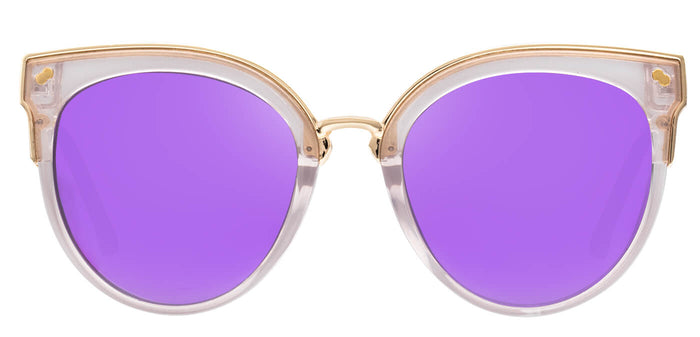 Lavender Cat Eye Polarized Sunglasses For Women Tiffany Front