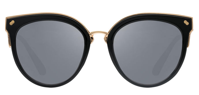 Midnight Black Cat Eye Polarized Sunglasses For Women Tiffany Front