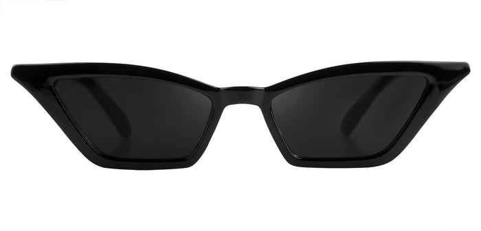 Midnight Black Cateye Sunglasses for Women Daunt Front