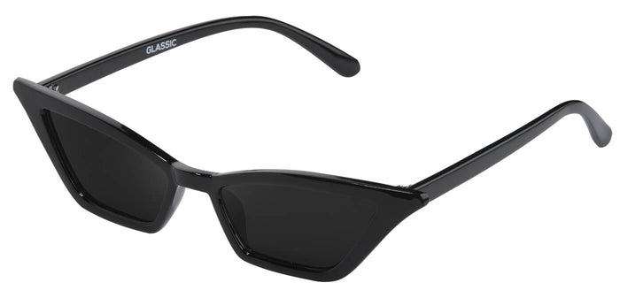 Midnight Black Cateye Sunglasses for Women Daunt Side