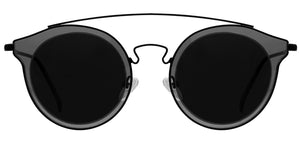 Midnight Black Polarized Sunglasses For Men Pact Front