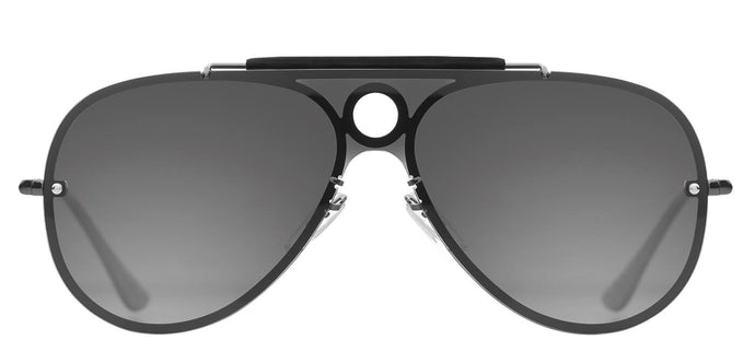 Midnight Black Pilot Polarized Sunglasses For Men Lucid Front