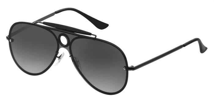 Midnight Black Pilot Polarized Sunglasses For Men Lucid Side