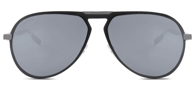 Midnight Black Pilot Polarized Sunglasses for Men - Duke - Front Angle