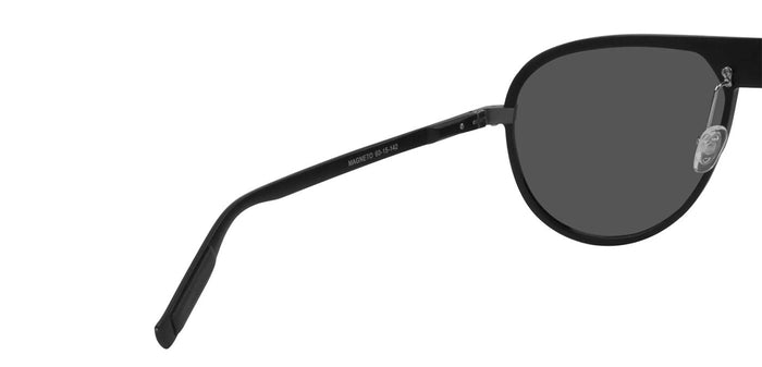 Midnight Black Pilot Polarized Sunglasses for Men - Magneto - Back Angle