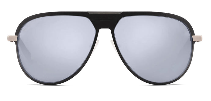 Midnight Black Pilot Polarized Sunglasses for Men - Magneto - Front Angle