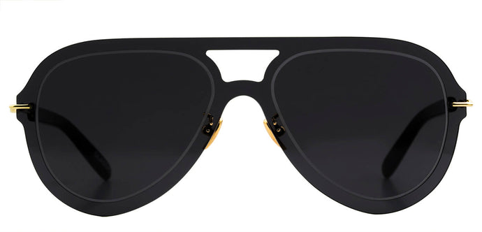 Midnight Black Pilot Sunglasses for Women Andy Front