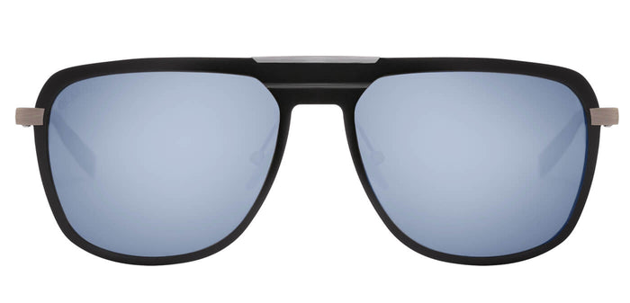 Midnight Black Rectangle Polarized Sunglasses for Men - Marshal - Front Angle