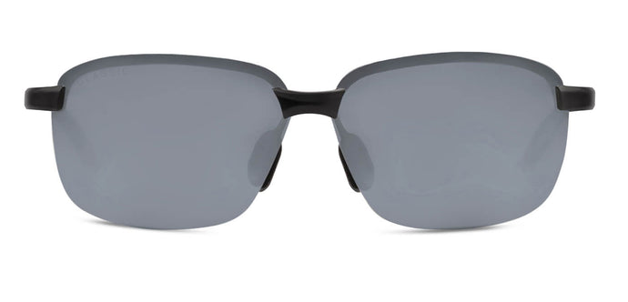 Midnight Black Rectangle Polarized Sunglasses for Men - Crosswind - Front Angle
