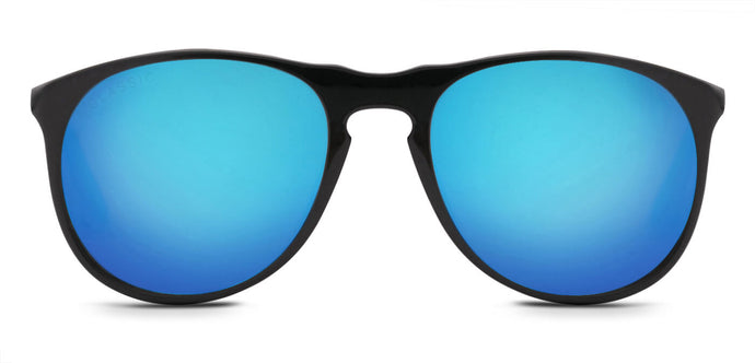 Pop Blue Pilot Polarized Sunglasses for Men - Banner - Front Angle