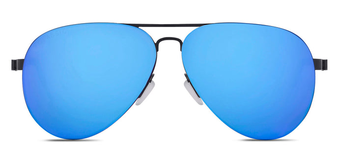 Pop Blue Pilot Polarized Sunglasses for Men - Governor - Front Angle