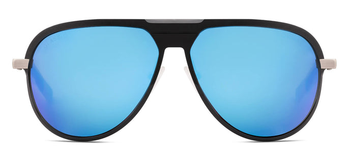 Pop Blue Pilot Polarized Sunglasses for Men - Magneto - Front Angle