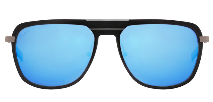 Pop Blue Rectangle Polarized Sunglasses for Men - Marshal - Front Angle