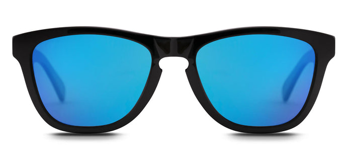 Pop Blue Square Polarized Sunglasses for Women - Quad - Front Angle