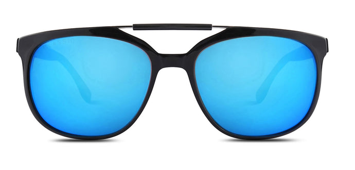 Pop blue Square Polarized Sunglasses for Men - Kingpin - Front Angle
