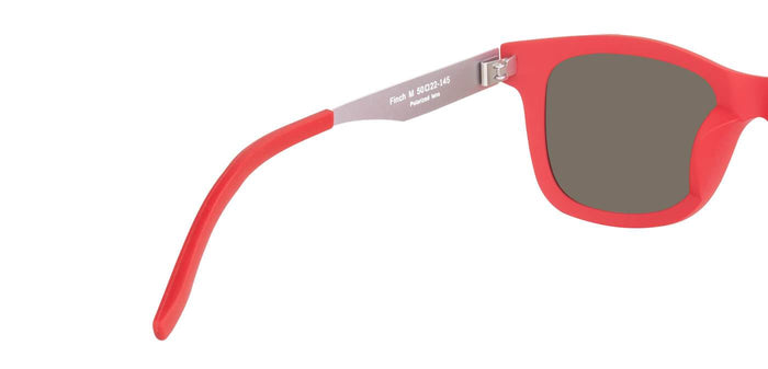 Red Lory Square Polarized Sunglasses for Men - Finch - Back Angle