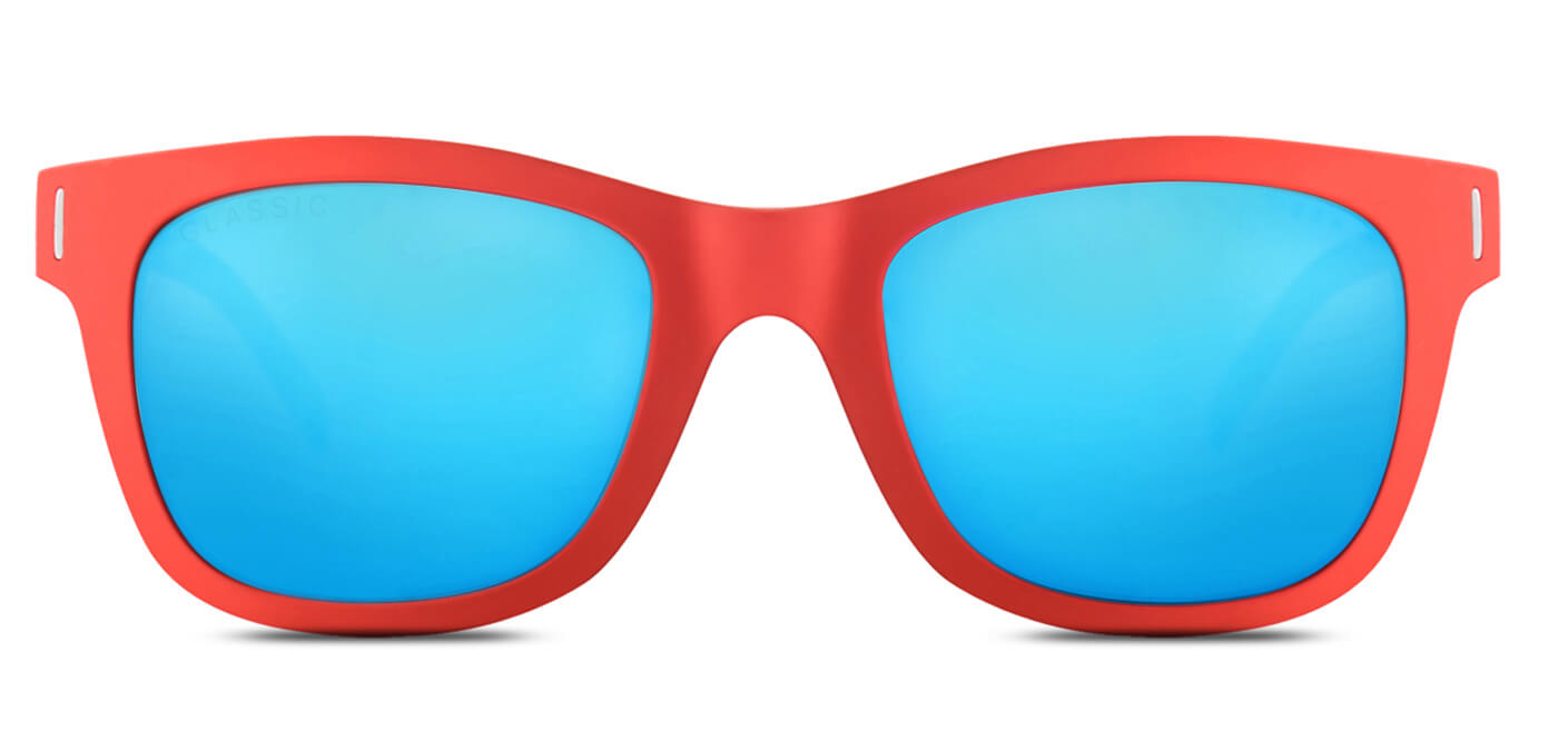 Red Lory Square Polarized Sunglasses for Men - Finch - Front Angle