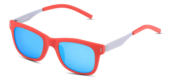 Red Lory Square Polarized Sunglasses for Men - Finch - Side Angle