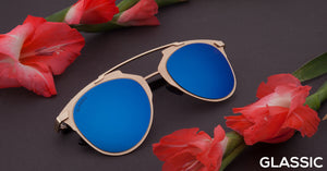 Beach Gold Cat Eye Non Polarised Sunglasses for Women Naomi AD