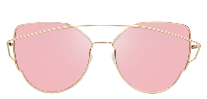 Rose Gold Cat Eye Polarized Sunglasses For Women Beth Front
