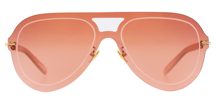 Rose Gold Pilot Sunglasses for Men Andy Front