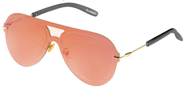 Rose Gold Pilot Sunglasses for Men Andy Side