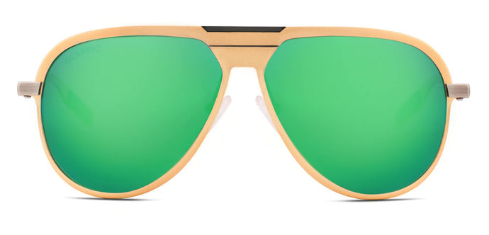 Sea Green Pilot Polarized Sunglasses for Men - Magneto - Front Angle