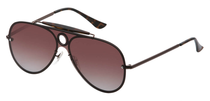 Sepia Pilot Polarized Sunglasses For Men Lucid Side