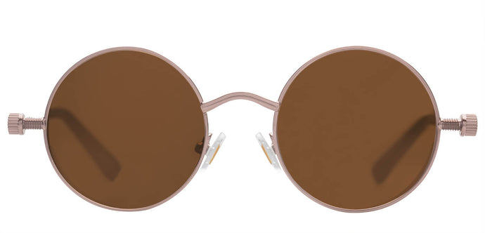 Sepia Round Non Polarized Sunglasses For Women Riot Front