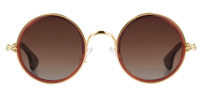 Sepia Round Sunglasses for Men Muse Front