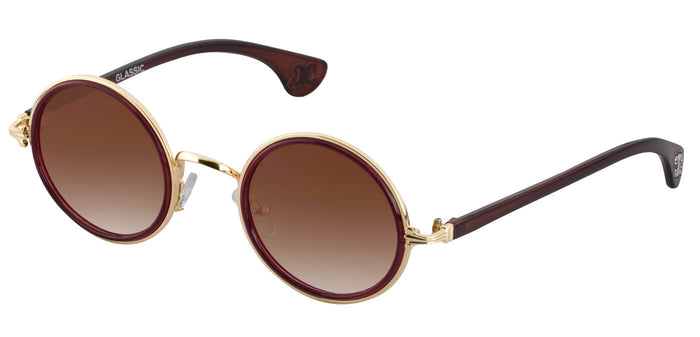 Sepia Round Sunglasses for Women Muse Side