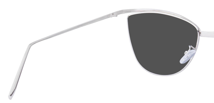 Shiny Silver Cat Eye Non Polarised Sunglasses for Women Chelsea Back