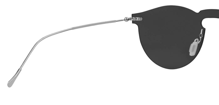 Silver Pearl Round Non Polarized Sunglasses for Men - Alex - Back Angle