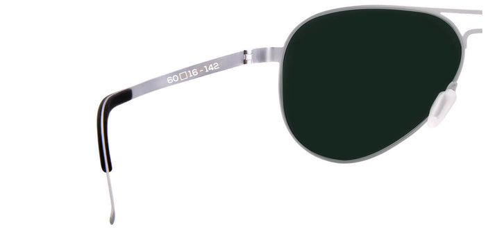 Silver Pilot Polarized Sunglasses for Men - Governor - Back Angle