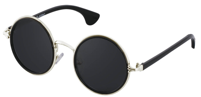 Silver Round Sunglasses for Men Muse Side
