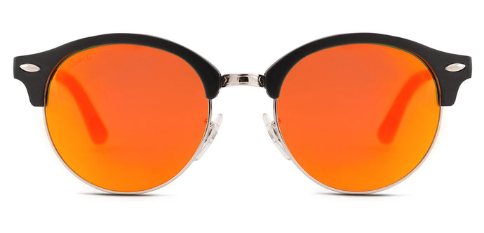 Sunset Orange Round Polarized Sunglasses for Men - Harper- Front Angle