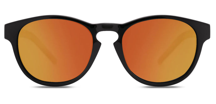 Sunset Orange Round Polarized Sunglasses for Men - Logan - Front Angle