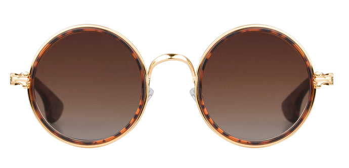 Tortoise Round Sunglasses for Women Muse Front