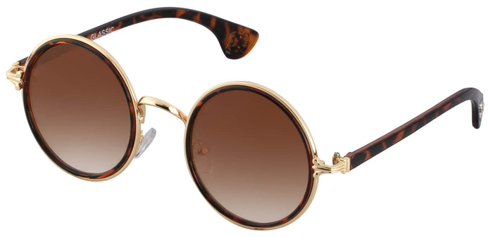 Tortoise Round Sunglasses for Women Muse Side