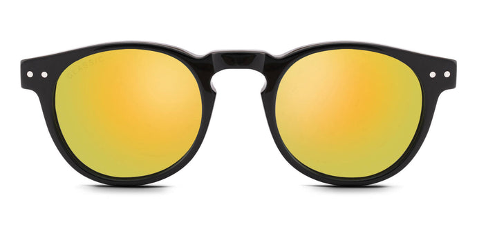 Vegas Gold Round Polarized Sunglasses for Men - Arrant - Front Angle