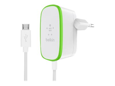 BELKIN WALL CHARGER WITH WIRED MICRO-USB CABLE 2.4A/12W WHITE