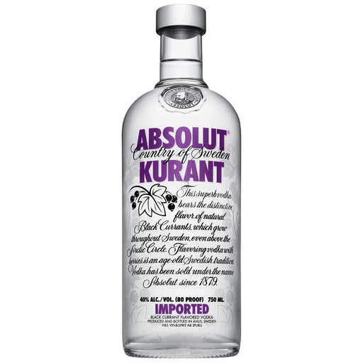 Absolut Vodka Kurrant Flavour 750ml