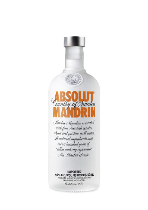 Absolut Vodka Mandrin Flavour 750ml