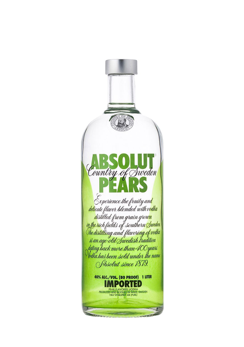 Absolut Vodka  Pears Flavour  750ml