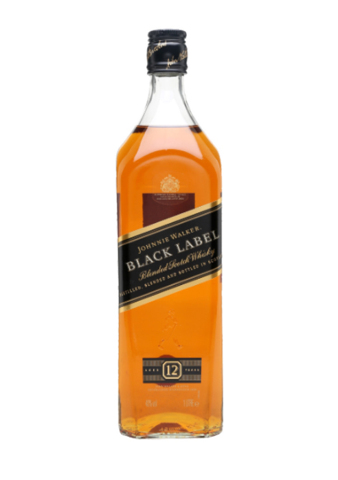JW Black Label Blended Scotch Whisky 1 Litre