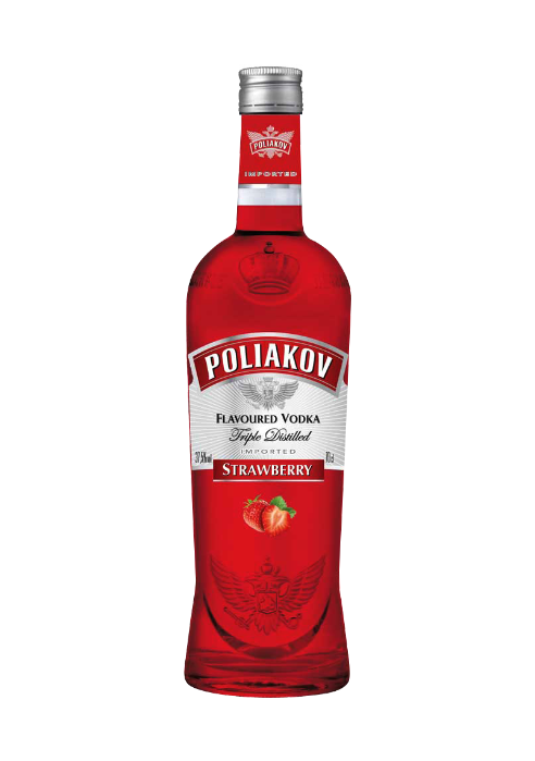 Poliakov Vodka Strawberry Flavour 700ml