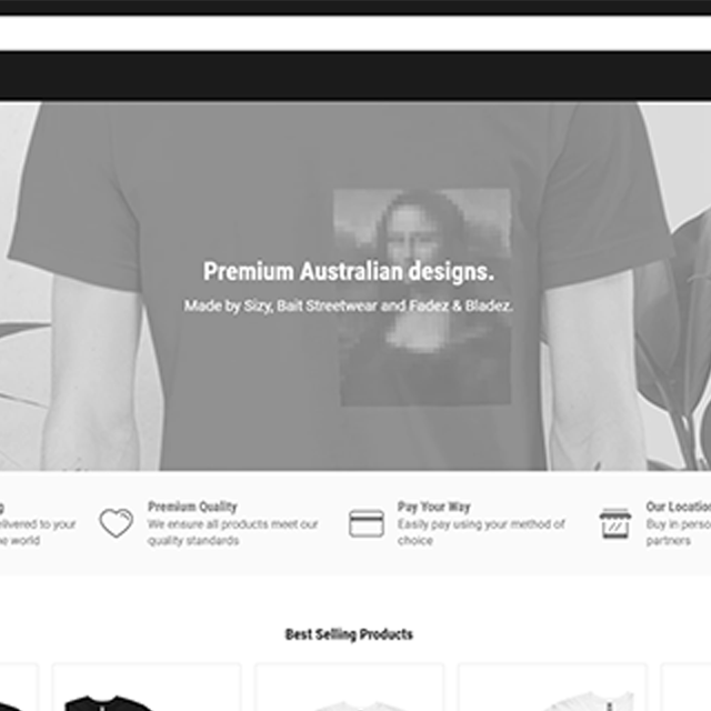 website web design header images design art style sizy clothing bait streetwear