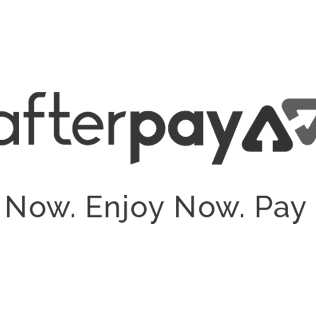 afterpay shop now enjoy now pay later buy white black